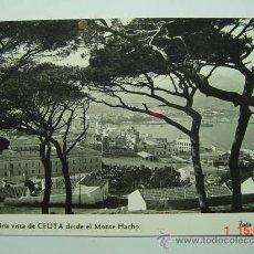 Postales: 6300 CEUTA VISTA DESDE MONTE HACHO AÑOS 1950 MIRA MAS POSTALES DE ESTA CIUDAD EN COSAS&CURIOSAS. Lote 12227290
