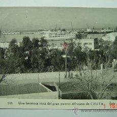 Postales: 6299 CEUTA VISTA GRAN PUERTO AÑOS 1950 MIRA MAS POSTALES DE ESTA CIUDAD EN COSAS&CURIOSAS. Lote 28323745