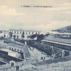 Postales: POSTAL ANTIGUA DE CEUTA. Nº 4. CUARTEL DE INGENIEROS. P-CEME-185. Lote 13425698