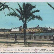 Postales: POSTAL CEUTA - VISTA GRAN PUERTO AFRICANO - 1961 FOTO RUBIO. Lote 24079929