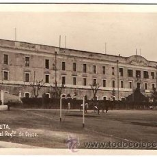 Postales: POSTAL CEUTA CUARTEL DEL REGIMIENTO DE CEUTA Y EL CAMPO DE FUTBOL . Lote 13837289