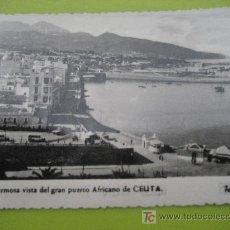 Postales: CEUTA. Nº 24. FOTO RUBIO. ESCRITA 1957. Lote 25013836