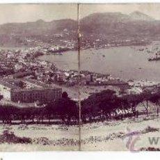 Postales: VISTA GENERAL DE CEUTA. POSTAL FOTOGRÁFICA DOBLE. FOTO FRANCISCO RUBIO. NO CIRCULADA (AÑOS 30). Lote 27236352