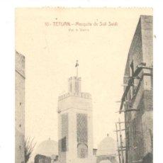 Postales: POSTAL DE TETUAN, MEZQUITA DE SIDI SAIDI, FOTO DE A, SIERRA, 13,70X8,5, DE FECHA 19.11.1918. Lote 35183283