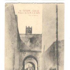 Postales: POSTAL DE TETUAN, NUM 16 CALLE DE PALACIO DE S.A.I. EL JALIFA FOTO A. SIERRA 13,70X8,5, 30.11.1918. Lote 27620412