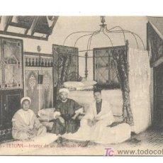 Postales: POSTAL DE TETUAN NUM 5 INTERIOR DE UN DORMITORIO MORO, FOTO A. SIERRA 13.70X8,50, TETUAN 9.9.1918. Lote 35183281
