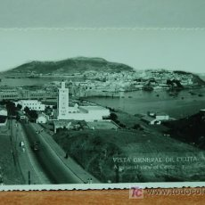 Postales: CEUTA VISTA GENERAL DE CEUTA REVERSO CON SELLO ESTAMPADO FOTO RUBIO FOTO POSTAL. Lote 16361524
