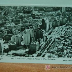 Postales: CASABLANCA 144 PLACE DE FRANCE ET BD. DU 4 ZOUAVES PHOTO FLANDRIN FOTO POSTAL. Lote 26334053