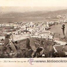 Postales: POSTAL CEUTA EL ISTMO ENTRE LAS AGUAS MEDITERRANEAS Y DEL ESTRECHO DE GIBRALTAR. Lote 16517088