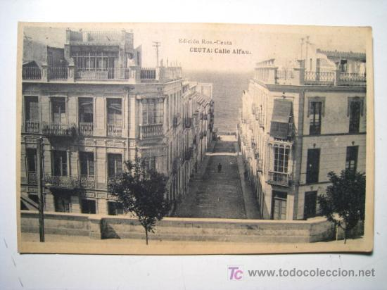POSTAL CEUTA: CALLE ALFAU (ROS) (Postales - España - Ceuta Antigua (hasta 1939))