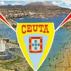 Postales: CEUTA, BELLEZAS DE LA CIUDAD • GARCÍA GARBELLA Y CÍA. 1972. Lote 19874574