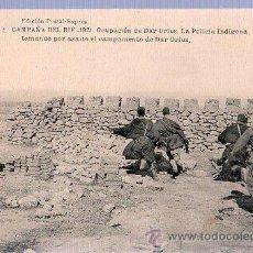 Cartes Postales: TARJETA POSTAL DE LA CAMPAÑA DEL RIF. 1921. OCUPACION DEL DAR DRIUS. HAUSER Y MENET. . Lote 24855445
