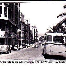 Postales: POSTAL CEUTA UNA VISTA DE UNA CALLE PRINCIPAL DE LA CIUDAD AFRICANA FOT, RUBIO. Lote 22063720