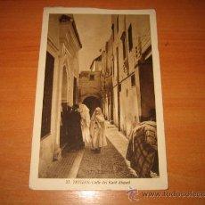 Postales: 33-TETUAN .CALLE DEL KAID AHMED FECHADA TETUAN 1948. Lote 22392111