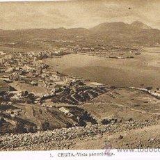 Cartes Postales: TARJETA POSTAL ESPAÑA MODERNA 1.940, Nº 1, CEUTA, VISTA PANORÁMICA. Lote 22898311