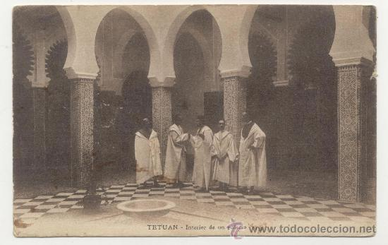 TETUAN INTERIOR DE UN PALACIO (Postales - España - Ceuta Antigua (hasta 1939))