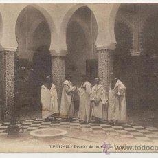 Postales: TETUAN INTERIOR DE UN PALACIO. Lote 25276367
