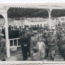 Postales: MILITARES Y MOROS EN EXPOSICIÓN DE GANADO, EN MARRUECOS. POSTAL FOTOGRÁFICA A IDENTIFICAR. Lote 26524266