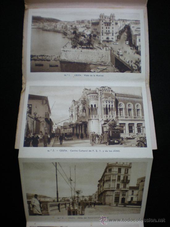 Postales: Tarjetas Postales. Ceuta. Recuerdo de Ceuta. 10 Vistas. Juego Completo. Zaragoza. Años 40. - Foto 2 - 29009183