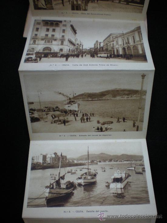 Postales: Tarjetas Postales. Ceuta. Recuerdo de Ceuta. 10 Vistas. Juego Completo. Zaragoza. Años 40. - Foto 3 - 29009183