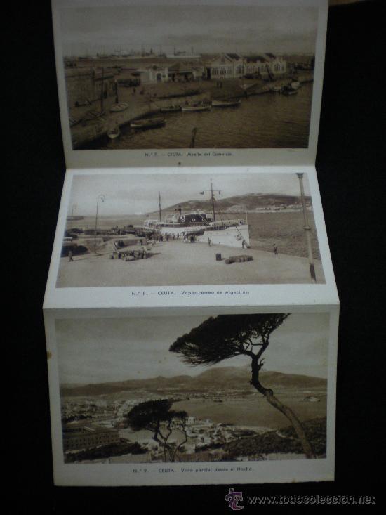 Postales: Tarjetas Postales. Ceuta. Recuerdo de Ceuta. 10 Vistas. Juego Completo. Zaragoza. Años 40. - Foto 4 - 29009183