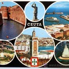 Postales: CEUTA. BELLEZAS DE LA CIUDAD.. Lote 29513066