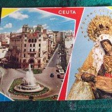 Postales: CEUTA-D21-PLAZA DEL GRAL GALERA-NTRA SRA DE AFRICA. Lote 29819831