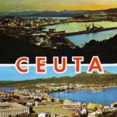 Postales: CEUTA VISTA GENERAL VISTA NOCTURNA ESCRITA CIRCULADA SELLO CASA RUBIO. Lote 30685898