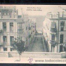 Postales: TARJETA POSTAL DE CEUTA - CALLE ALFAU. EDICION ROS. FOTOTIPIA HAUSER Y MENET. Lote 30780984