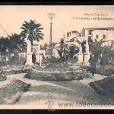 Postales: TARJETA POSTAL DE CEUTA - PLAZA DE SAN SEBASTIAN. EDICION ROS. FOTOTIPIA HAUSER Y MENET. Lote 30878671