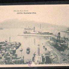 Postales: TARJETA POSTAL DE CEUTA, MUELLE DE ALFAU, HAUSER Y MENET. Lote 30905773