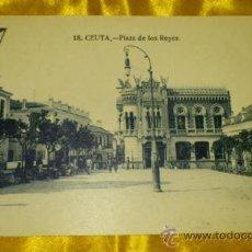 Postales: POSTAL NUM 18, PLAZA DE LOS REYES DE CEUTA, FOTOS ARRIBAS, 9X14, SIN CIRCULAR. Lote 32725849