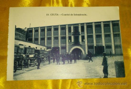 POSTAL NUM 19, CUARTEL DE INTENDENCIA DE CEUTA, FOTOS ARRIBAS, 9X14, SIN CIRCULAR (Postales - España - Ceuta Antigua (hasta 1939))