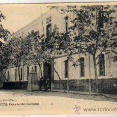 Postales: CEUTA. EDICION ROS. CUARTEL DEL SERRALLO. FOTOTIPIA HAUSER.. Lote 34095379