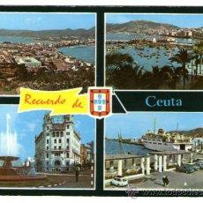 Cartes Postales: CEUTA - RECUERDO DE CEUTA - EDICIÓN GENERAL - POSTAL. Lote 199348901