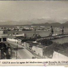 Postales: POSTAL CEUTA, ENTRE LAS AGUAS DEL MEDITERRANEO, FOTO RUBIO. Lote 34435344