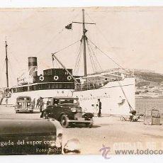 Postales: CEUTA LA LLEGADA DEL VAPOR CORREO CIUDAD DE ALGECIRAS. FOTO RUBIO. Lote 34562878