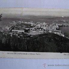 Postales: POSTAL DE CEUTA -31- UNA VISTA DE CEUTA DE MONTE HACHO (CIRCULADA 1962, FOTO RUBIO). Lote 35728797