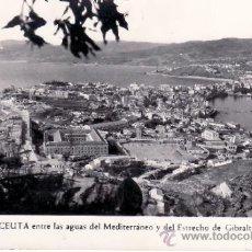 Postales: EL ISTMO DE CEUTA - ENTRE LAS AGUAS MEDITERRANEAS Y EL ESTRECHO DE GIBRALTAR. Lote 35924224