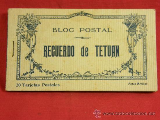 20 TARJETAS POSTALES BLOC POSTAL RECUERDO DE TETUÁN ED. M. ARRIBAS ZARAGOZA, PPIOS S XX XAUEN (Postales - España - Ceuta Antigua (hasta 1939))