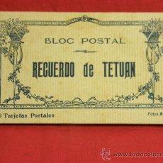 Postales: 20 TARJETAS POSTALES BLOC POSTAL RECUERDO DE TETUÁN ED. M. ARRIBAS ZARAGOZA, PPIOS S XX XAUEN. Lote 36381118