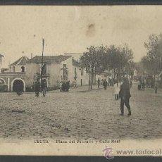 Postales: CEUTA - PLAZA DEL PESCADO Y CALLE REAL - ED. ARRIBAS - (15.840). Lote 37334320
