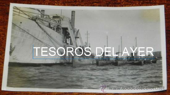FOTO POSTAL DE CEUTA, 4 SUBMARNOS ATRACADOS EN EL PUERTO, EPOCA DE ALFONSO XIII, SIN CIRCULAR, FOTOG (Postales - España - Ceuta Antigua (hasta 1939))