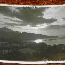 Postales: FOTO POSTAL DE CEUTA, ATARDECER, EPOCA DE ALFONSO XIII, SIN CIRCULAR, FOTOGRAFO ROS. Lote 37753779
