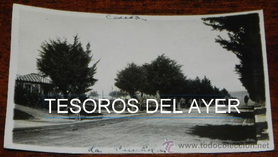 FOTO POSTAL DE CEUTA, CARRETERA LLAMADA DE LA PUNTILLA UNA NUEVA ENTRADA DE CEUTA, EPOCA DE ALFONSO (Postales - España - Ceuta Antigua (hasta 1939))