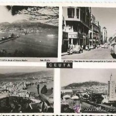 Postales: ** PH314 - POSTAL - CEUTA - VARIAS VISTAS - ESCRITA - 1957. Lote 38043184