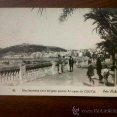 Postales: POSTAL CEUTA-UNA HERMOSA VISTA DEL GRAN PUERTO AFRICANO-FOTO RUBIO Nº 97-CIRCULADA FALTA SELLO. Lote 38650166