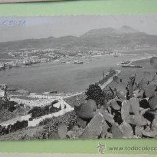 Postales: VISTAS DE CEUTA DESDE MONTE HACHO. FOT. RUBIO. Lote 39211200
