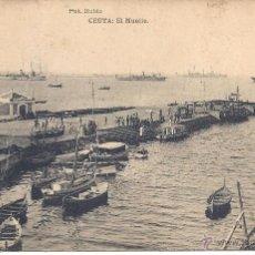 Postales: PS0388 CEUTA 'EL MUELLE'. FOTO RUBIO. SIN CIRCULAR. Lote 39700562
