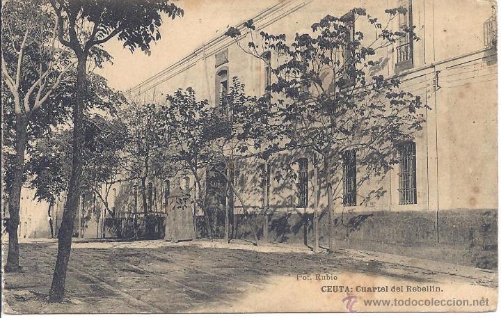 PS0391 CEUTA 'CUARTEL DEL REBELLIN'. FOTO RUBIO. SIN CIRCULAR (Postales - España - Ceuta Antigua (hasta 1939))